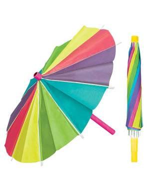 3 kleurrijke papieren parasols