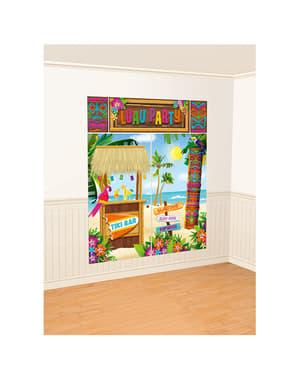 Tiki hawaii væg dekorations sæt