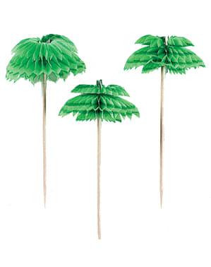 Zestaw 12 dekoracyjnych wykałaczek z palmami