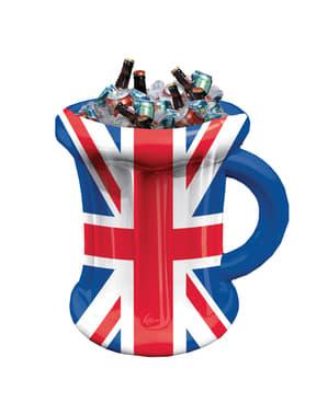 Aufblasbares Biertasse in UK Flaggen Design