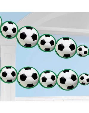 Grinalda com bolas de futebol - Football Party