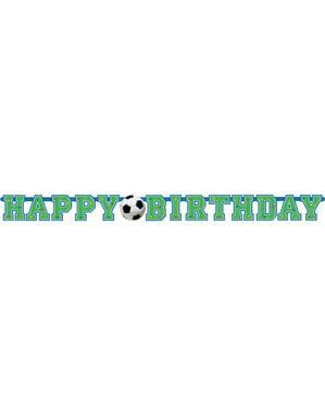 Jalkapallo Happy Birthday banneri