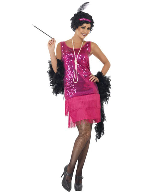 Disfraz de charlestón rosa