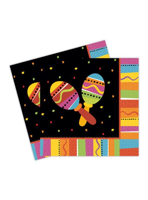 Conjunto de 16 guardanapos festa México divertida