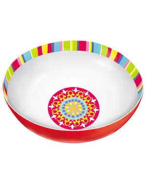 Bol de plástico para Fiesta Mexicana