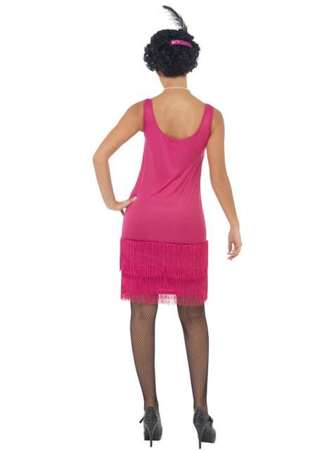 Disfraz de charlestón rosa - mujer