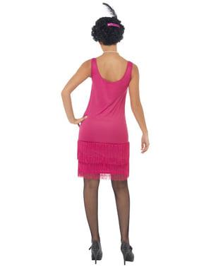 Vaaleanpunainen Flapper-tyttö-asu aikuisille