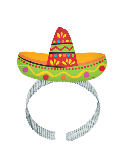 Set of 8 headpieces for Mexican party