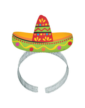 8-teiliges Diadem Set mit Mexiko Motiv