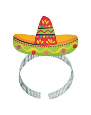 Sæt af 8 hårbånd til mexicansk fest