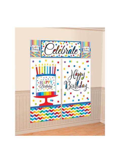 Kit décoration mur pois colorés