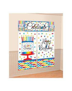 Kit de decoración pared de lunares de colores