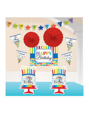 Colourful Polka Dots room decoration kit