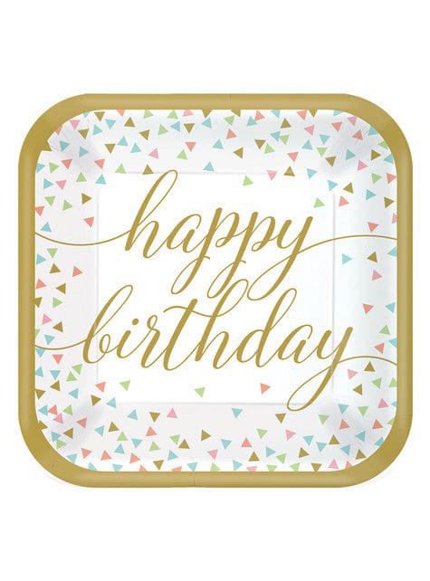18 velkých talířů Happy birthday