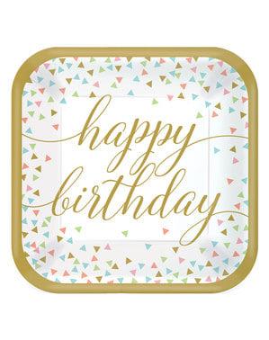 18 piatti grandi happy birthay
