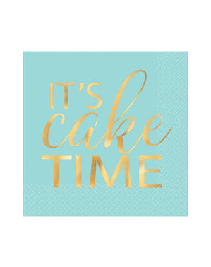 16 Serviettes en papier  it's cake time