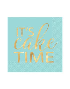 16 guardanapos de bebida it's cake time (13x13 cm)