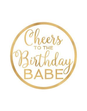 Zestaw 18 podstawek happy birthday