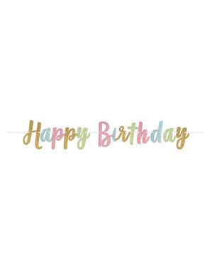 Glitzernde Happy Birthday Girlande