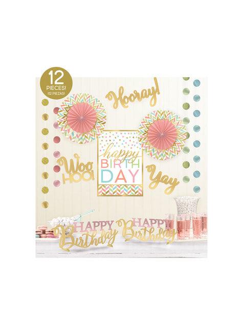 Kit de decoración para habitación happy birthday