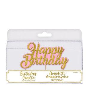 Happy Birthday stearinlys