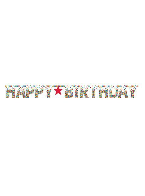 Guirlande anniversaire arc-en-ciel