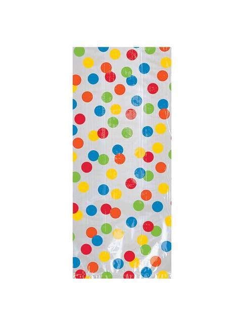 20 שקיות פולקה נקודות צבעוניות