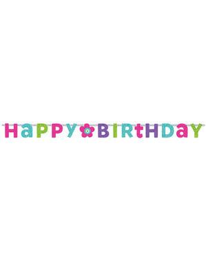 Birthday Flower banner
