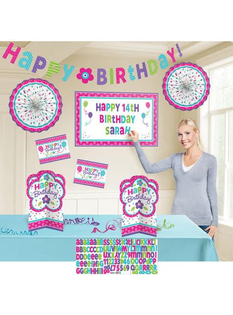 Kit de decoración cumpleaños alegre