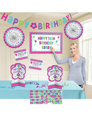 Happy Birthday dekorasjonssett