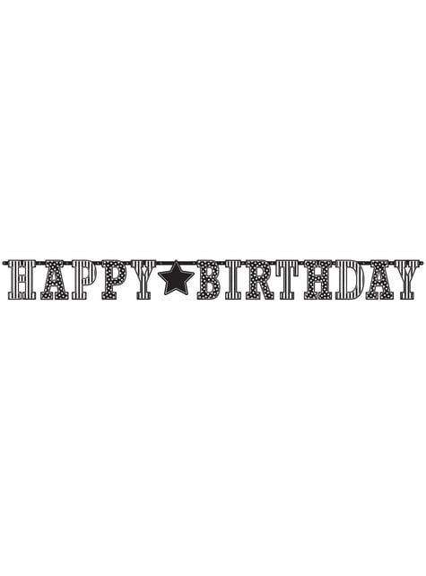 Geburtstags Girlande mit Punkten und Streifen