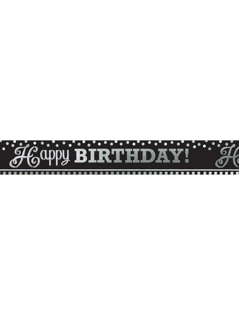 Cartaz gigante aniversário preto e branco