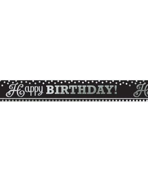 Large Black and White Happy Birthday poster