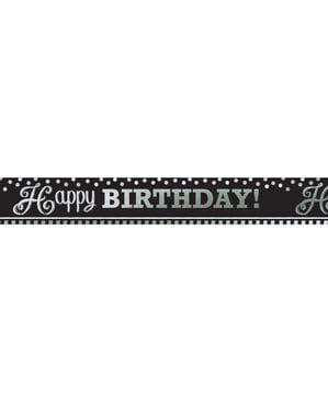 Skylt gigantisk födelsedag svart och vit