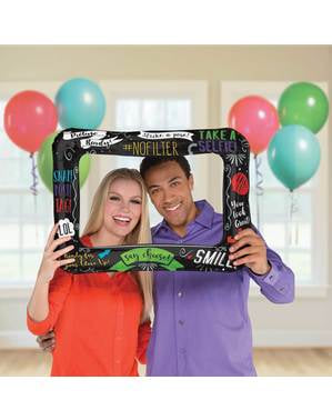 Inflatable photo booth for parties