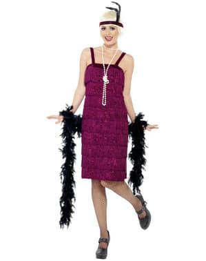 Maroon Flapper Girl Adult Costume