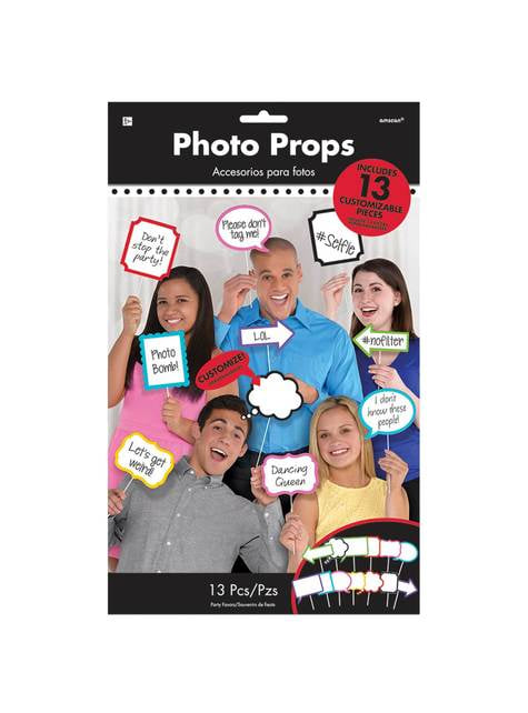 13 accesorios photocall de mensajes