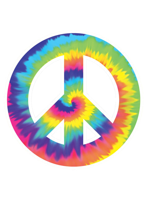 Cartel decorativo símbolo de la paz hippie
