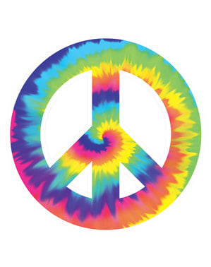 Skylt dekorativ fredssymbol hippie