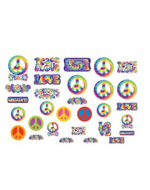 Sett med 30 Hippie dekorative plakater