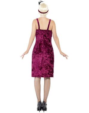 Charlestonklänning Vinröd Maskeraddräkt Vuxen