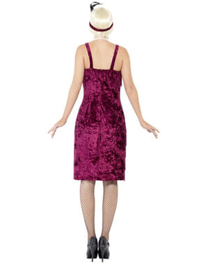 Maroon Flapper Girl Adult Costume