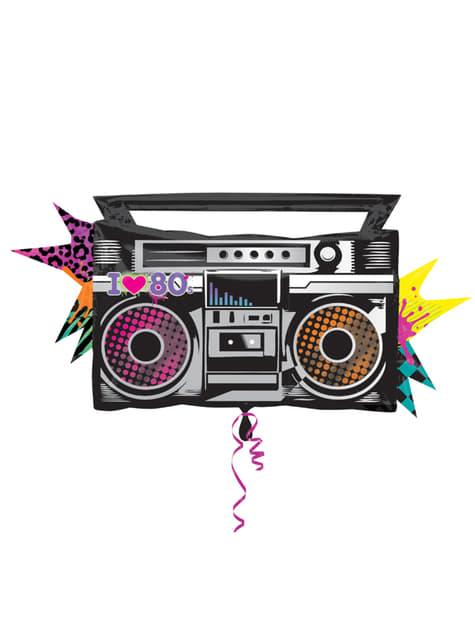 80's Radio Cassette Speler folieballon
