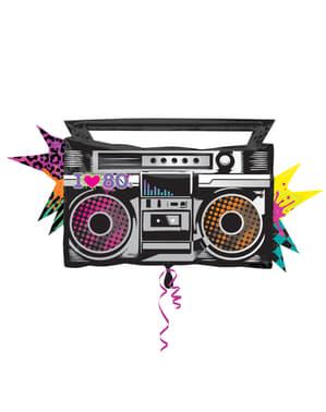 80'ler radyo kaset çalar folyo balon