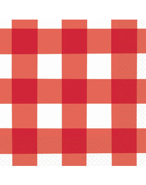 16 kpl punavalkoista pleedi lautasliinoja