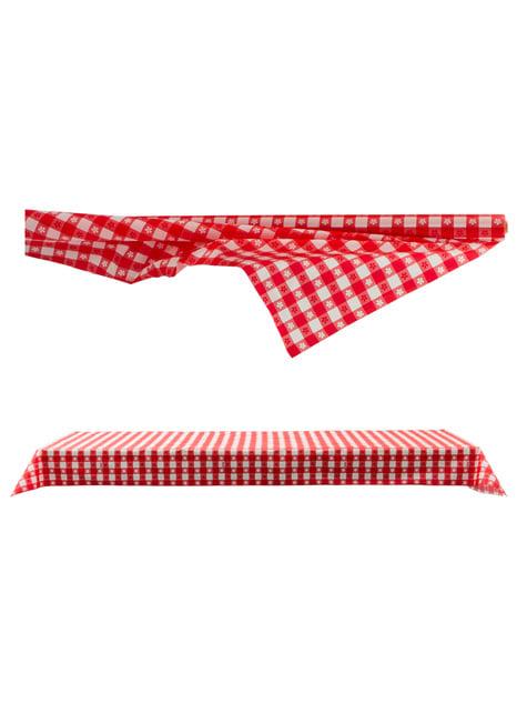 Rollo de mantel de papel de cuadros rojo y blanco