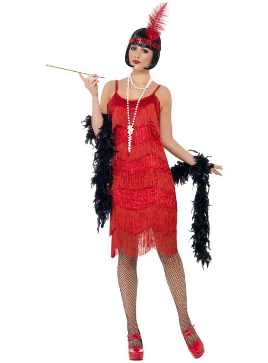Mujer vestido rojo antifaz