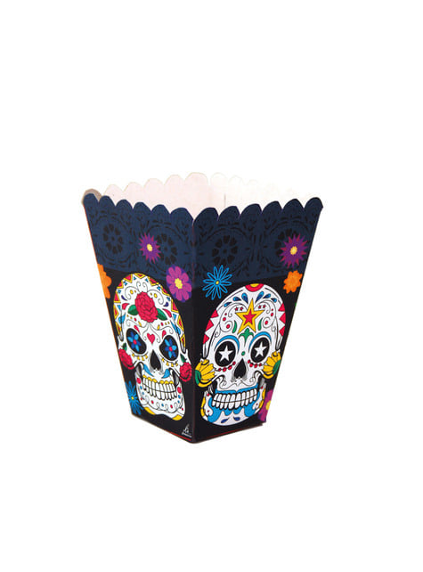 12 Lange Catrina Day of Dead popcorn bakjes