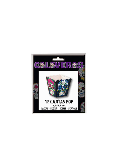 12 cajitas pop Catrina Día de los muertos pequeñas - para tus fiestas
