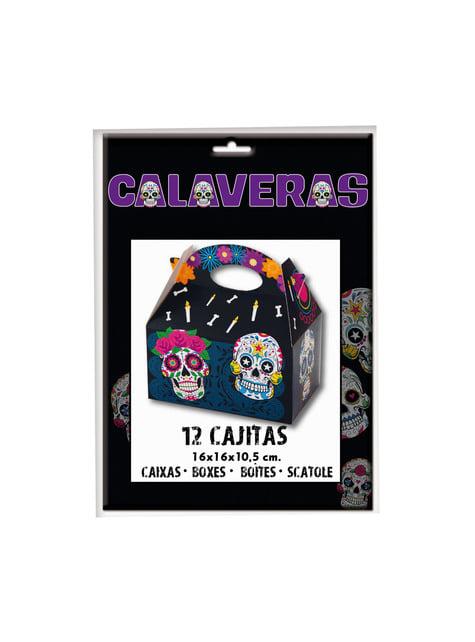 12 boîtes pop Catrina jour des morts rectangulaires